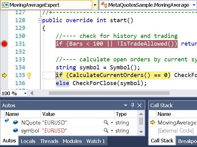 debugging in nquotes tutorial debugging in visual studio - Visual Basic Beispiele